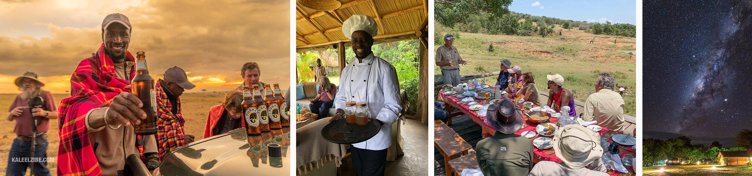 African Wildlife Photography Safaris Sundowners, refreshments, breakfast and the Milky Way in the Maasai Mara